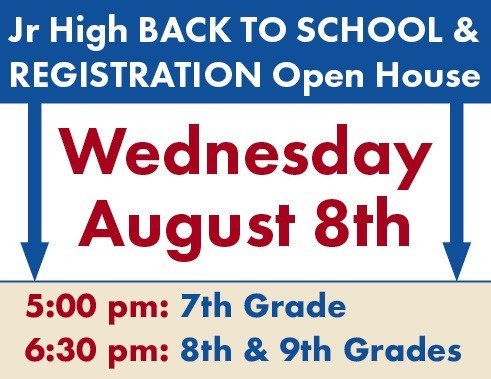 Jr high registration