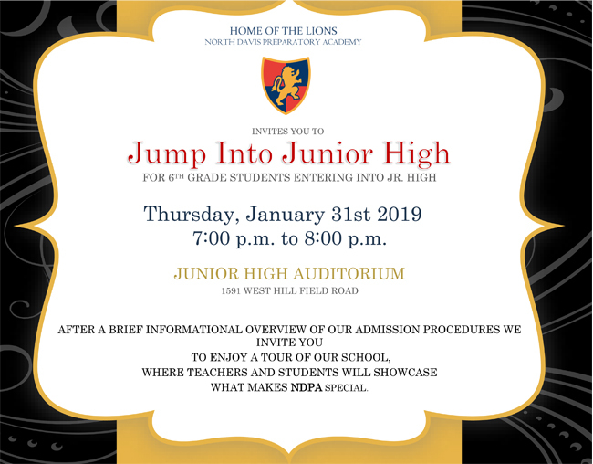Junior high invite open house website